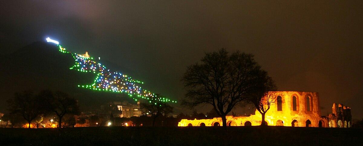 mount ingino christmas tree wikipedia - Worlds Largest Christmas Tree