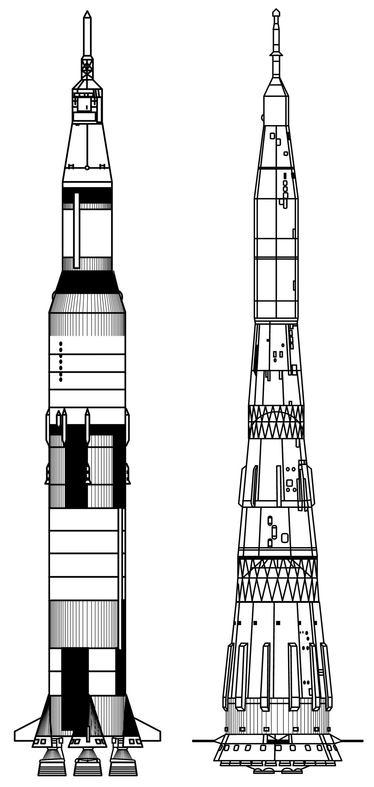 N 1 cohete wikipedia la enciclopedia libre for Blueprint scale
