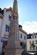 Saxon milepost in Eibenstock (Germany).jpg