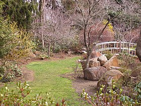 Sayen Park Botanical Garden - Japanese bridge.JPG