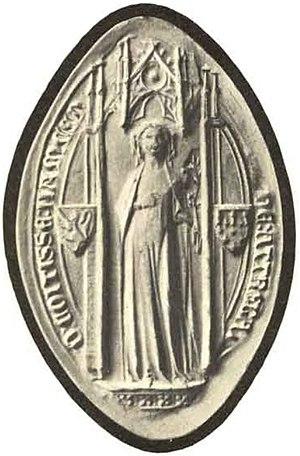 Marie of Artois - Seal of Marie of Artois (12 October 1331).