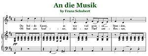 An die Musik - Excerpt of An die Musik