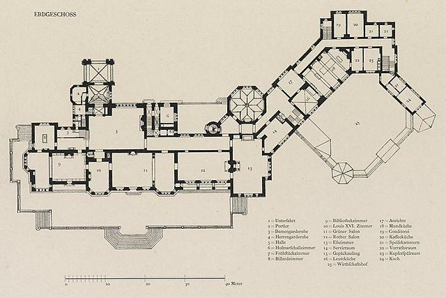 Datei Schloss Friedrichshof Gesamtgrundriss Erdgeschoss
