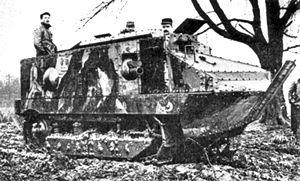 Tanks in France - Schneider CA1, the first French tank