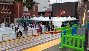 Perth Institute of Contemporary Arts - A school holiday event in front of PICA