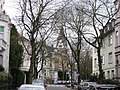 Schumannstraße Kreuzung Lessingstraße, Blick auf St. Elisabeth-Kirche - panoramio.jpg