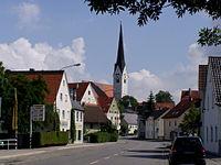 Schwabmünchen - MIndelheimer Str, Pfarrkirche v SW.JPG
