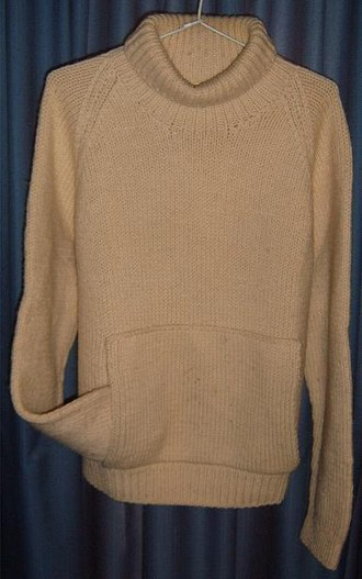 Military uniform - Seaman's jumper: hand knitted wool