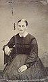 Seated woman in black dress, ca. 1856-1900. (4732551238).jpg