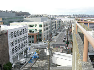 South Lake Union, Seattle - Looking north on Terry Avenue N to Lake Union (2007)