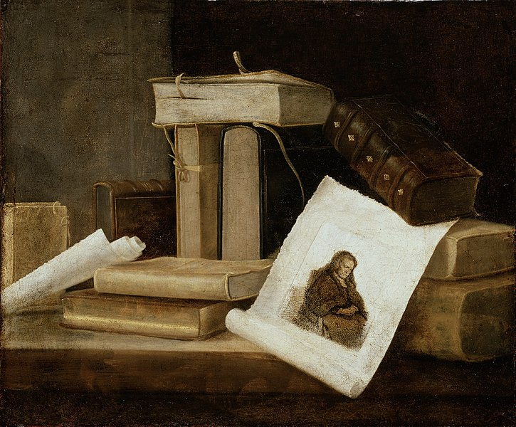 File:Sebastian Stosskopf - Still Life of Books and a Rembrandt Engraving - 52.199 - Detroit Institute of Arts.jpg