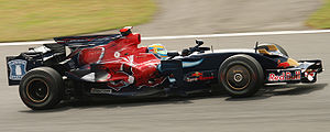 Sébastien Bourdais - Bourdais driving for Toro Rosso at the 2008 Japanese Grand Prix.