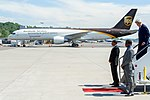Secretary Kerry Deplanes From his Air Force C32A at Boeing Field in Seattle, Washington.jpg