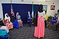 Secretary Kerry Listens to a Speaker as He Meets a Group of Young Women who Have Been Empowered, or are Encourgaging Others to be Empowered Through Education in Abuja (29200414015).jpg
