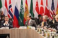 Secretary Tillerson Listens as German Foreign Minister Gabriel Speaks at the G-20 Foreign Ministers' Meeting in Bonn (32949409835).jpg