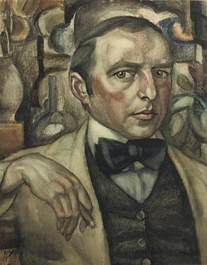 Leo Gestel - Self Portrait, by Leo Gestel. Pencil on paper, 1913