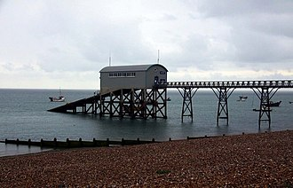 Selsey Lifeboat Station - The old Selsey RNLI boat house closed and removed 2017.