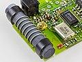 Sender for a motor driven gate - board - Ferrite rod antenna and 40.685 MHz crystal oscillator-9693.jpg