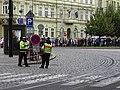 Senovážné náměstí před průvodem tramvají, od Jindřišské (01).jpg