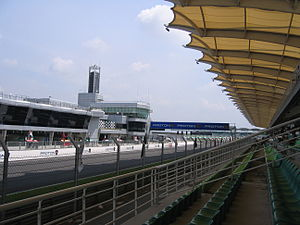 Sepang International Circuit - View from Mall Area, Main Grandstand North, Lower Tier