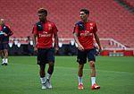 Serge Gnabry Hector Bellerin Arsenal Members' Day 2015 (19495566953).jpg