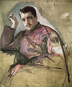 Портрет Дягилева работы Валентина Серова (1909)