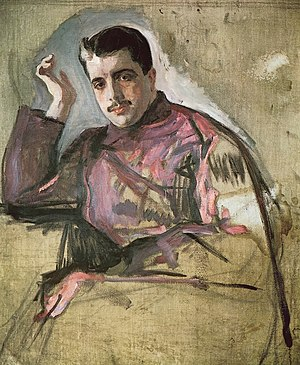 Sergei Diaghilev - Portrait of Sergei Diaghilev by Valentin Serov (1904)