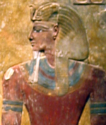 Image of Seti I from a column fragment