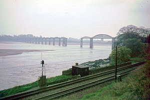 1960 in the United Kingdom - Damage to the Severn Railway Bridge
