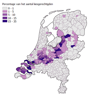 Bible Belt (Netherlands) region in the Netherlands with the highest concentration of conservative Calvinist Protestants; stretches from Zeeland, through the West-Betuwe and Veluwe, to northern Overijssel