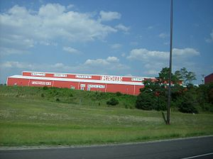 Because some states restrict the in-state use of fireworks by purchasers, large fireworks stores, like this one near Richmond, Indiana, are sometimes located on state borders.