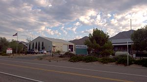 Shelter Valley, California - Image: Shelter Valley California Fire Department and Community Center (2011)