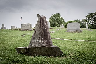Sherwood Anderson - Anderson's grave marker at Round Hill Cemetery in Marion, Virginia. Designed by Wharton Esherick and executed in black granite by Victor Riu.