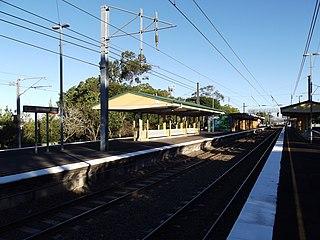 Sherwood railway station, Brisbane railway station in Brisbane, Queensland, Australia