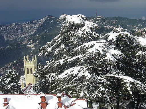 Snowfall in shimla - Hill stations near Delhi