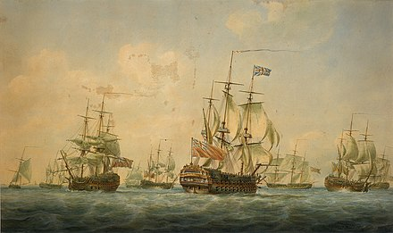 Ganges was one of the ships at Spithead in 1797 Ships at Spithead 1797.jpg