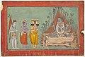 Shiva, Vishnu, and Brahma Adoring Kali, ca. 1740, Basohli,LACMA.jpg