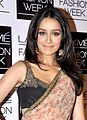 Shraddha Kapoor celebs at Sabyasachi grand finale for LFW 2013.jpg