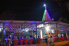 Shree Hitvardhak Ganesh Temple, Waghivare Night View.jpg