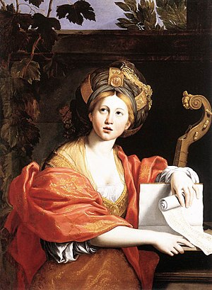 Sibylline Oracles - c. 1616-17 depiction of a Sibyl by Domenichino