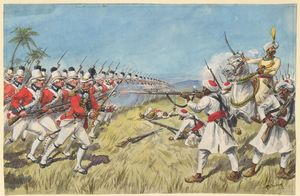 Second Anglo-Mysore War - Depiction of action in the 1783 Siege of Cuddalore.