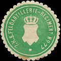 Siegelmarke 7. K.S. Feldartillerie-Regiment No. 77 W0351914.jpg