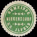 Siegelmarke Gemeinde Wiegersdorf Kreis Ilfeld W0383872.jpg