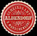 Siegelmarke Gemeindeamt Albendorf bei Marschendorf W0307539.jpg