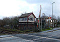 Signal Box and Level Crossing, Smithy Bridge - geograph.org.uk - 86346.jpg