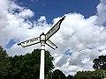 Signpost at junction with Fairwater Road, Fairwater, August 2019 06.jpg