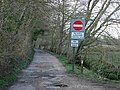 Silly sign and access track - geograph.org.uk - 146344.jpg