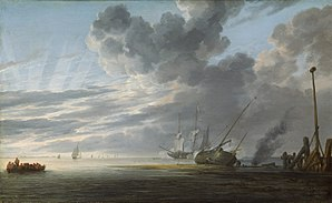 Simon de Vlieger - Seascape in the Morning, ca. 1643