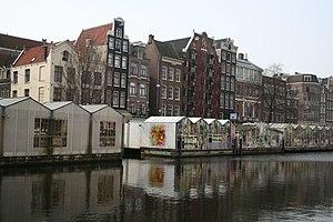 Bloemenmarkt - Bloemenmarkt flower stalls floating in the Singel canal