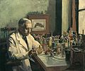 Sir Alexander Fleming, Frs, the Discoverer of Penicillin Art.IWMARTLD4217.jpg